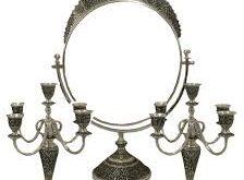 فروش آینه و شمعدان نقره