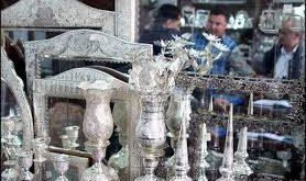 فروش استثنایی آینه و شمعدان نقره
