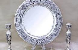 آینه و شمعدان نقره